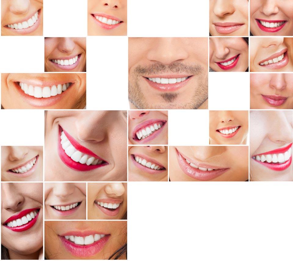 zdrowe, zęby, uśmiech